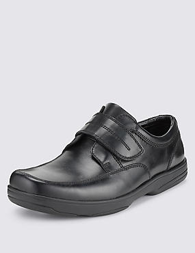 Big & Tall Airflex™ Leather Extra Wide Fit Riptape Shoes