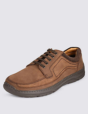 Airflex™ Leather Extra Wide Fit Derby Lace Up Shoes