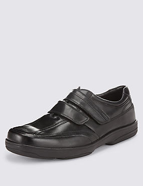 Airflex™ Leather Double Strap Slip-On Trainers