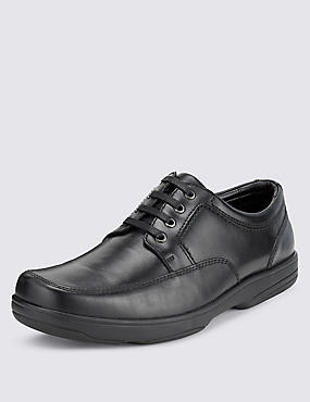 Big & Tall Airflex™ Leather Extra Wide Fit Lace Up Shoes