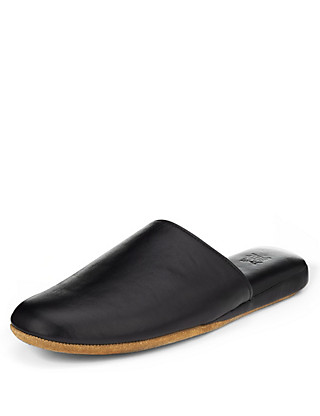 Freshfeet™ Leather Mule Slippers with Thinsulate™ Clothing