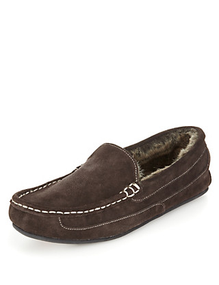Freshfeet™ Suede Moccasins with Thinsulate™ Clothing