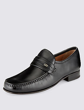 Leather Trim Loafers