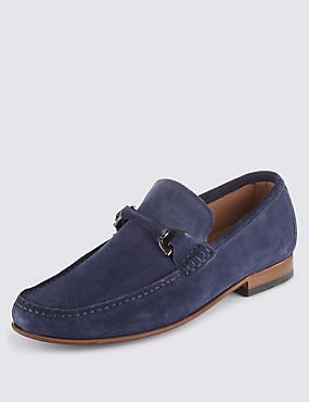 Suede Snaffle Loafers