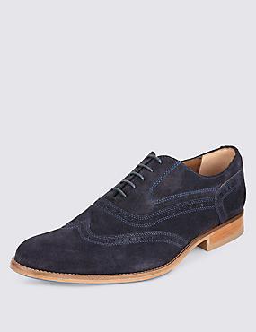Suede Layered Sole Brogue Shoes
