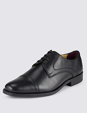 Big & Tall Leather Toe Cap Derby Shoes