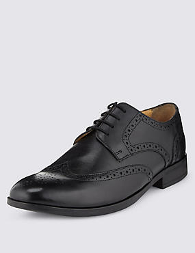 Airflex™ Leather Lace Up Derby Brogue Shoes