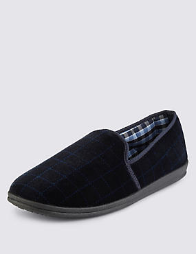 Big & Tall Slippers with Thinsulate™, NAVY, catlanding