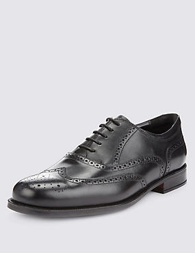 Leather Extra Wide Fit Brogue Shoes