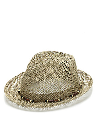 Seagrass Trilby Hat Clothing