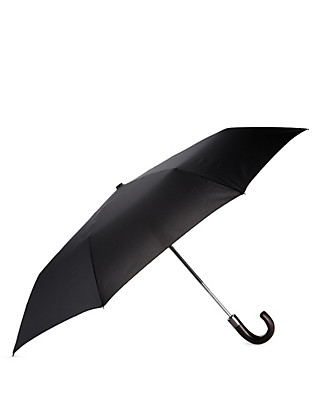 Showerproof Automatic Open Wooden Crook Handle Umbrella Clothing