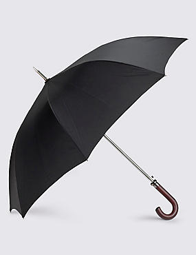 Showerproof Automatic Wooden Crook Handle Umbrella with FLEXITECH™