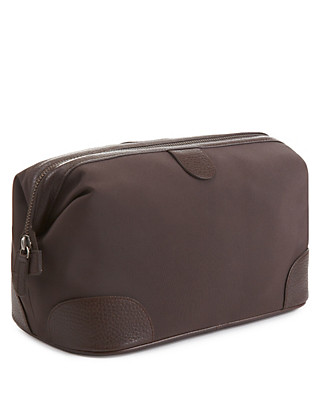 Washbag with Leather Trim Clothing