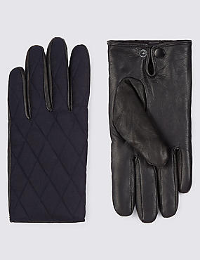 Leather Palm Quilted Gloves with Thinsulate™