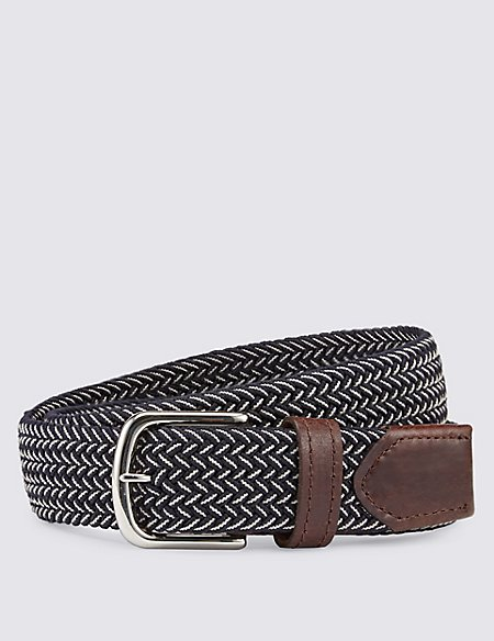 Two Tone Stretch Web Belt