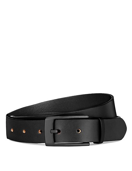 Leather Matt Buckle Belt