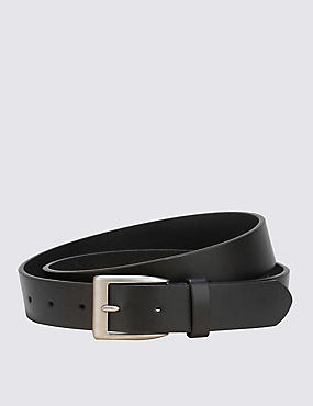 Square Buckle Notched Belt