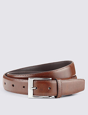 Coated Leather Active Waistband Expander Belt