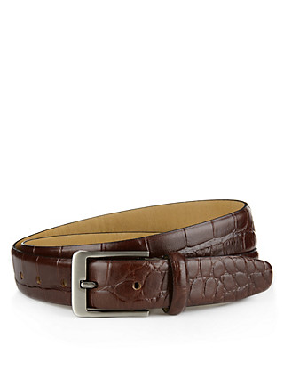 Leather Embossed Belt Clothing