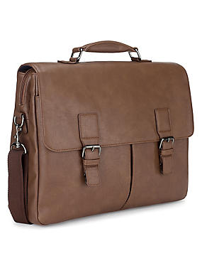 Faux Leather Formal Briefcase