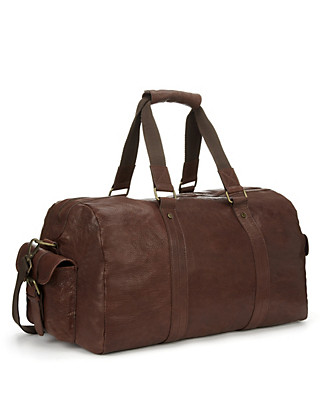 Luxury Leather Holdall Clothing