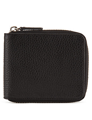 Leather Zipped Wallet with Datashield Clothing