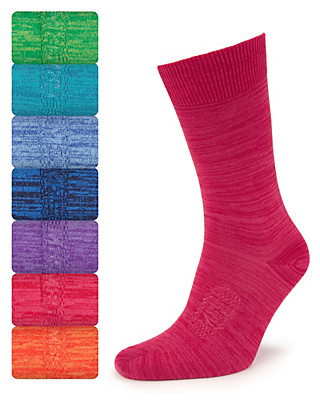 7 Pairs of Freshfeet™ Cotton Rich Space-Dye Socks Clothing