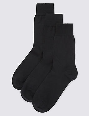 3 Pairs of Merino Wool Blend Socks