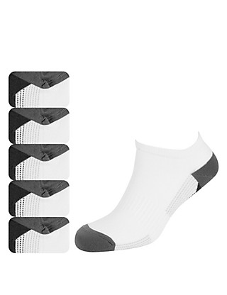 5 Pairs of Cotton Rich Freshfeet™ Striped Socks with Silver Technology Clothing