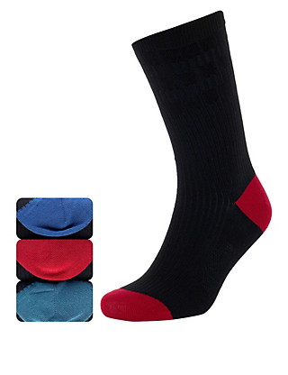3 Pairs of Comfort & Easy Grip Socks with Silver Technology Clothing