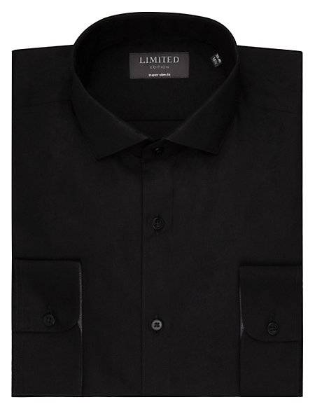 Super Slim Fit Forward Point Collar Shirt