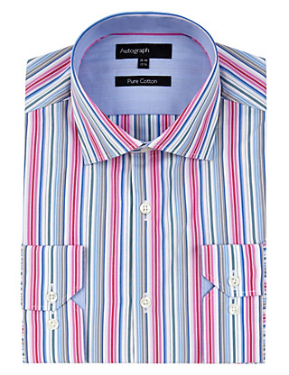 Supima® Pure Cotton Bright Striped Shirt Clothing