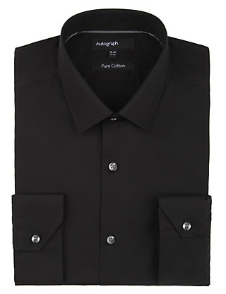 Pure Cotton Tailored Fit Shirt Clothing