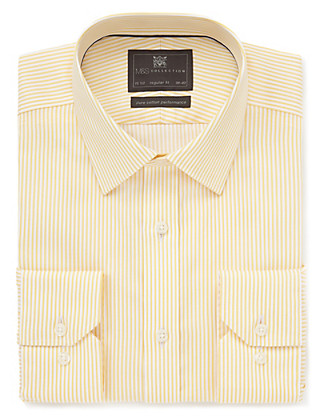 Performance Pure Cotton Non-Iron Bengal Striped Shirt Clothing