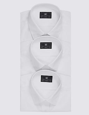 2in Longer 3 Pack Easy to Iron Regular Fit Shirts