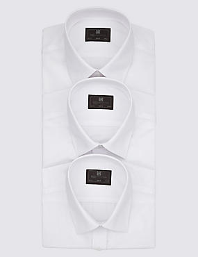 3 Pack Easy Care Slim Fit Shirts with Pocket
