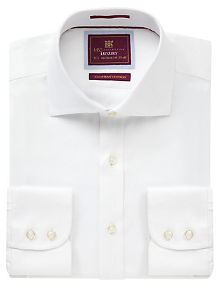 Pure Egyptian Cotton Herringbone Shirt Clothing