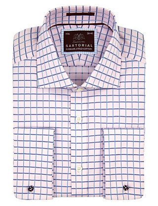 Pure Cotton Overchecked Shirt Clothing
