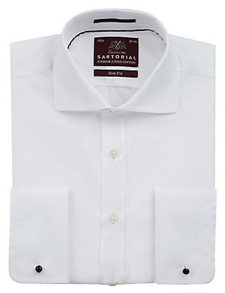 Pure Cotton Slim Fit Shirt Clothing