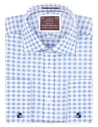 Pure Cotton Large Gingham Checked Shirt Clothing