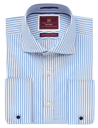 Pure Egyptian Cotton Classic Bengal Striped Shirt Clothing