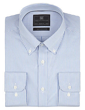 Pure Cotton Easy to Iron Bengal Striped Oxford Shirt