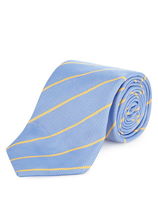 Luxury Made in England Pure Silk Tie Clothing