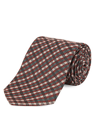 Wool Blend Checked Tie Clothing