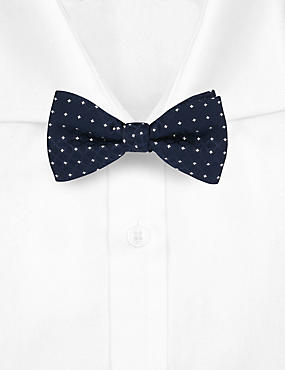 Spotted Textured Bow Tie