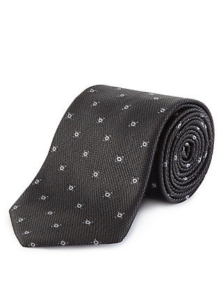 Pure Silk Textured Tie Clothing