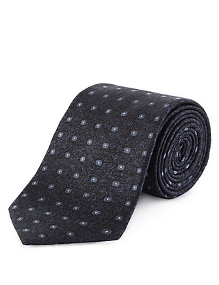 Pure Silk Premium Embroidered Textured Tie Clothing