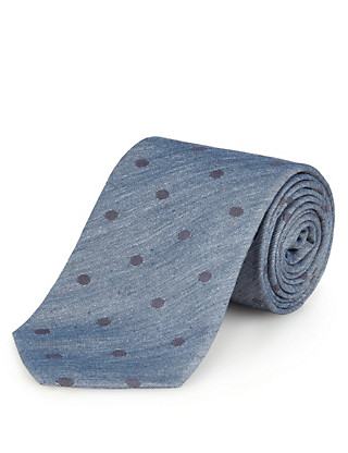 Italian Fabric Pure Silk Spotted Tie Clothing