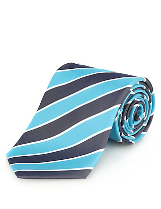 Pure Silk Striped Tie Clothing