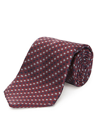 Pure Silk Textured Tie with Stain Resistance Clothing